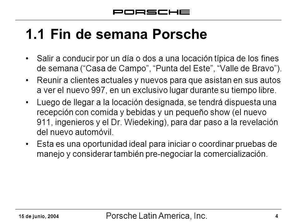 1.1 Fin de semana Porsche
