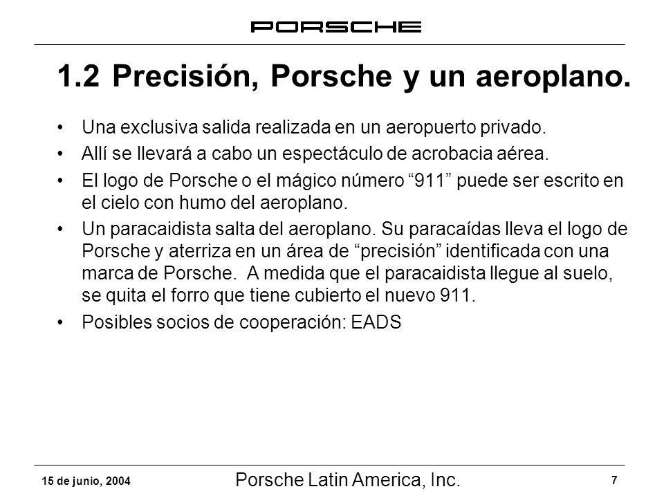 1.2 Precisión, Porsche y un aeroplano.
