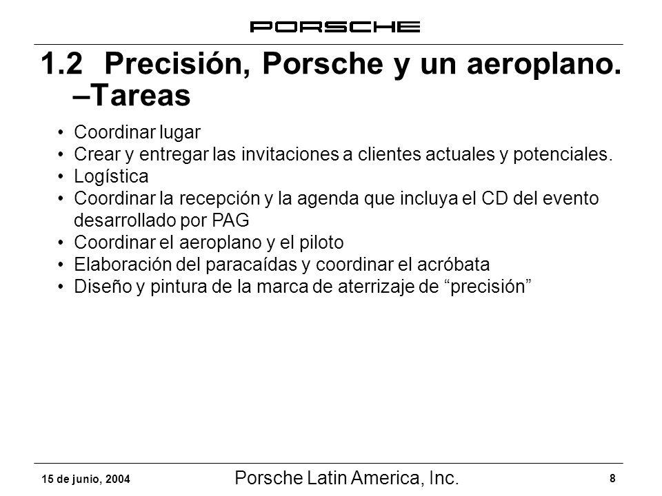 1.2 Precisión, Porsche y un aeroplano. –Tareas