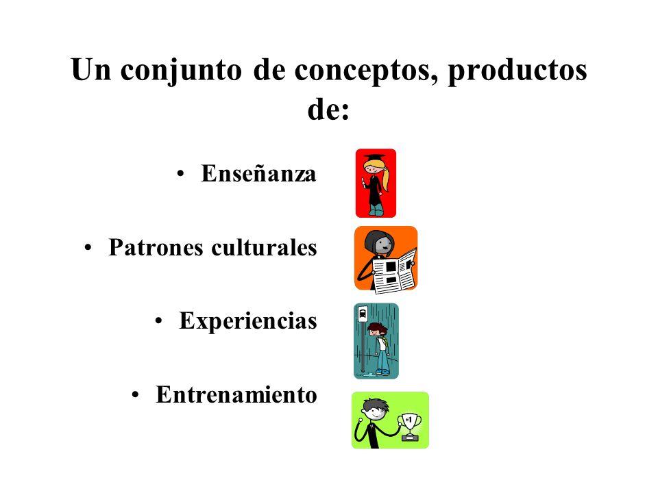 Un conjunto de conceptos, productos de: