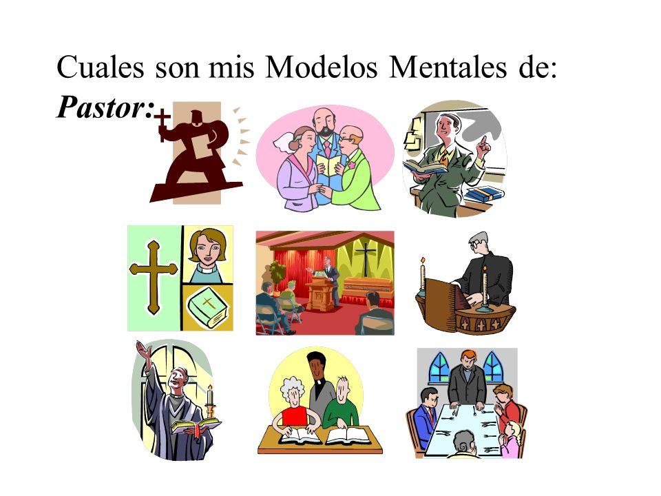 Cuales son mis Modelos Mentales de: Pastor: