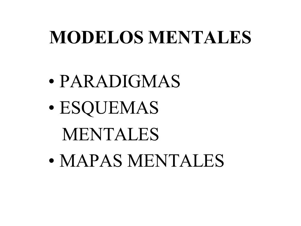 PARADIGMAS ESQUEMAS MENTALES MAPAS MENTALES