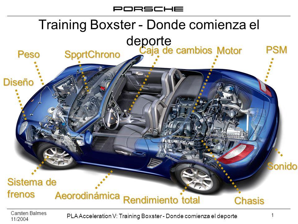 Training Boxster - Donde comienza el deporte
