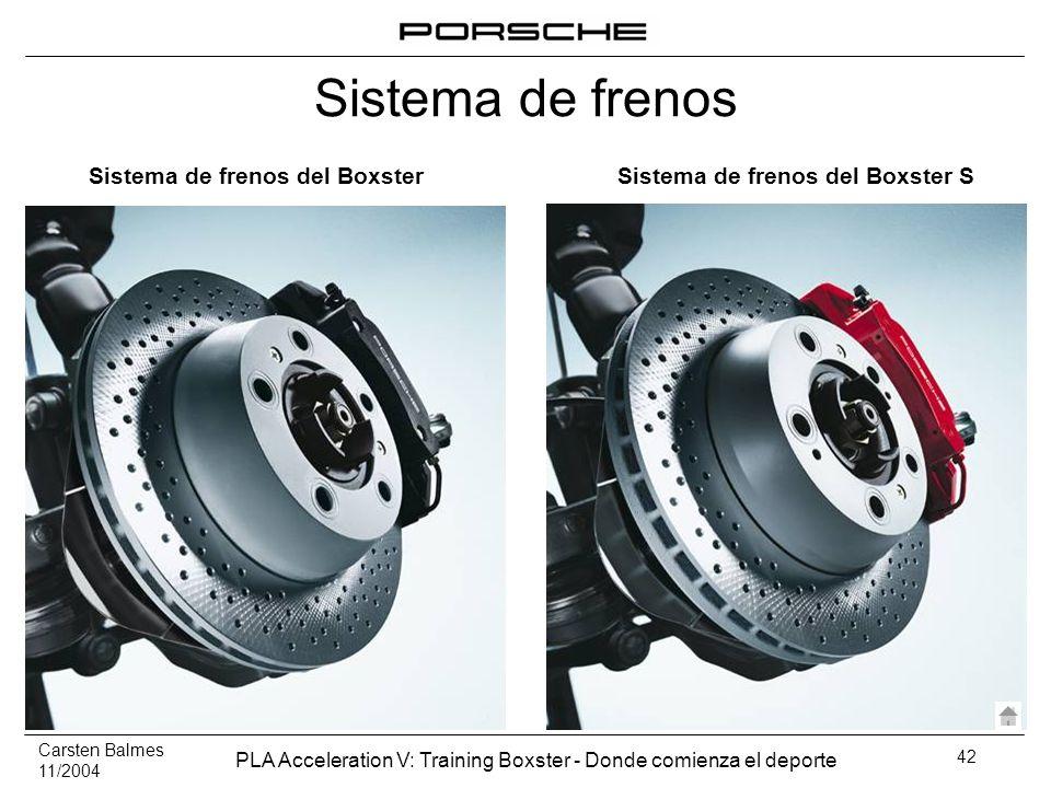 Sistema de frenos del Boxster Sistema de frenos del Boxster S