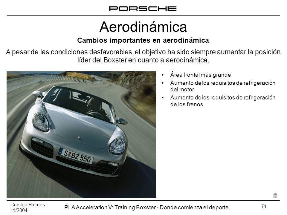 Cambios importantes en aerodinámica