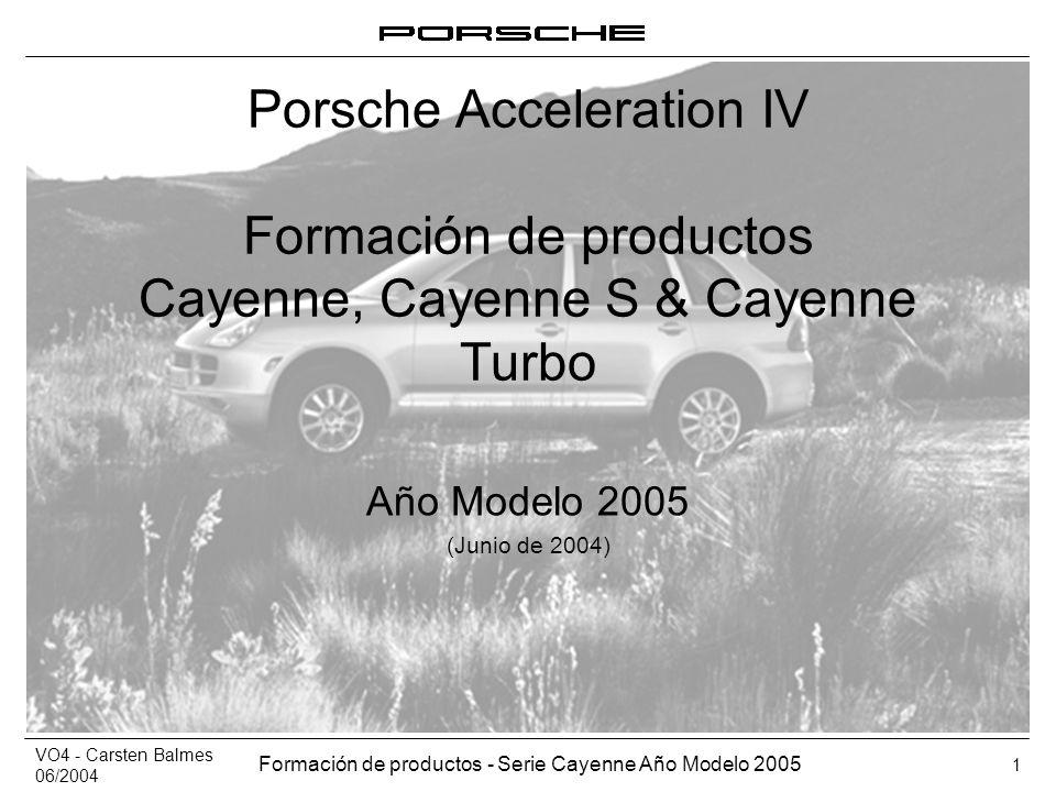 Porsche Acceleration IV Formación de productos Cayenne, Cayenne S & Cayenne Turbo