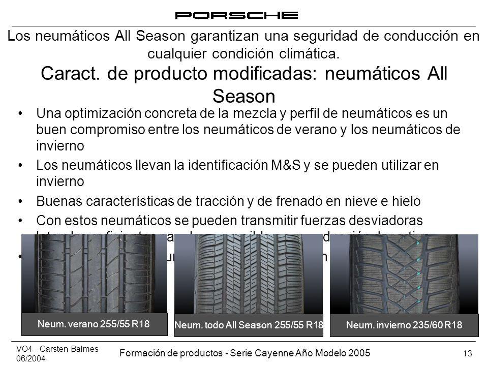 Caract. de producto modificadas: neumáticos All Season