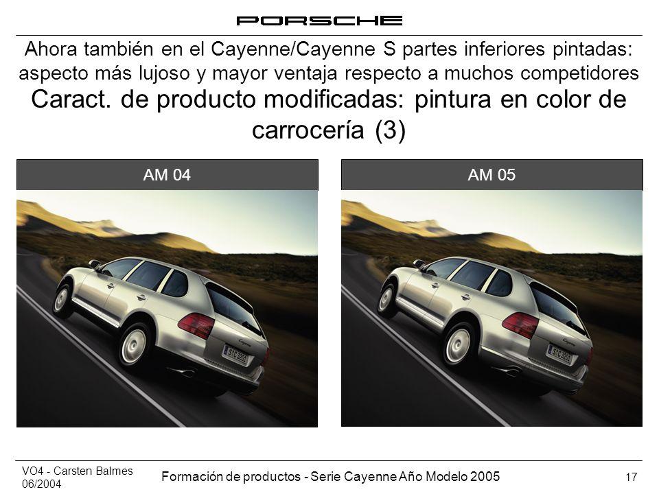 Caract. de producto modificadas: pintura en color de carrocería (3)