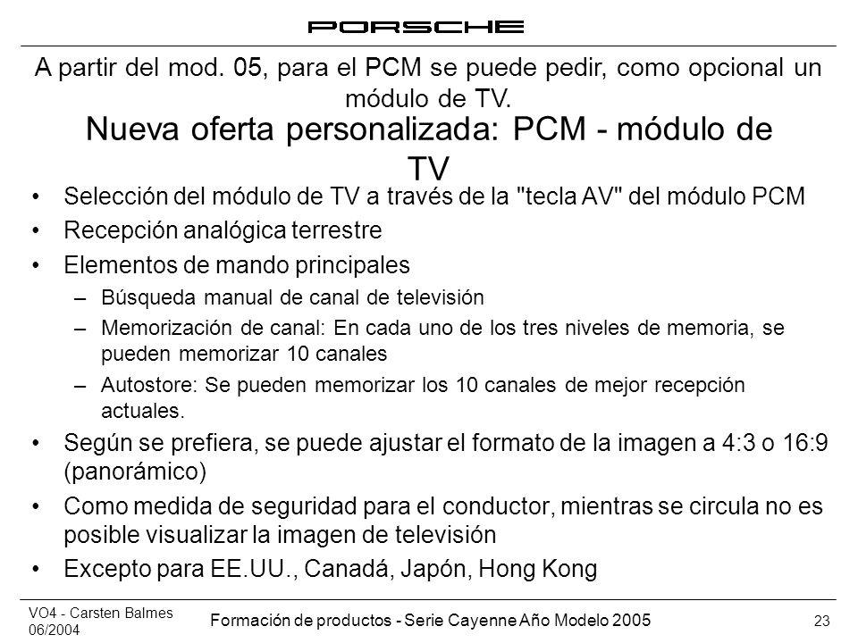 Nueva oferta personalizada: PCM - módulo de TV