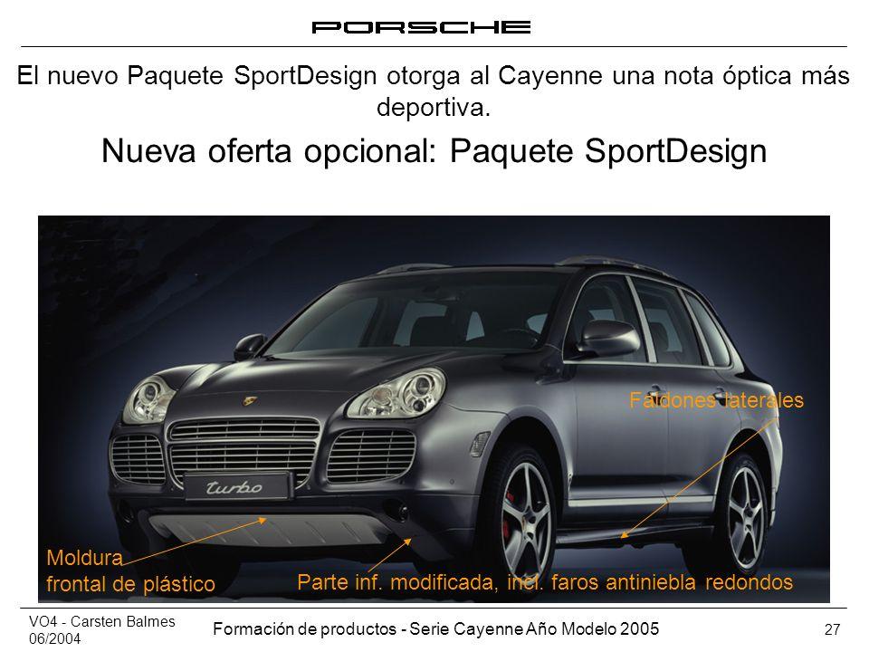 Nueva oferta opcional: Paquete SportDesign