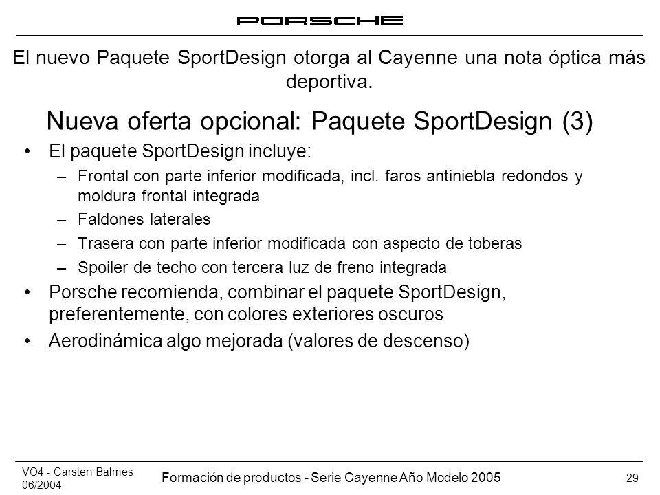 Nueva oferta opcional: Paquete SportDesign (3)