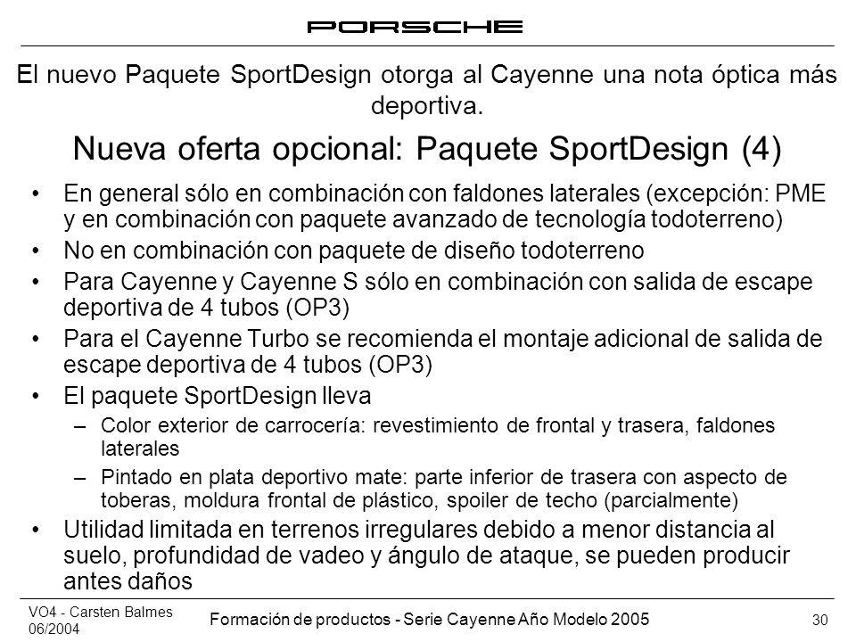 Nueva oferta opcional: Paquete SportDesign (4)