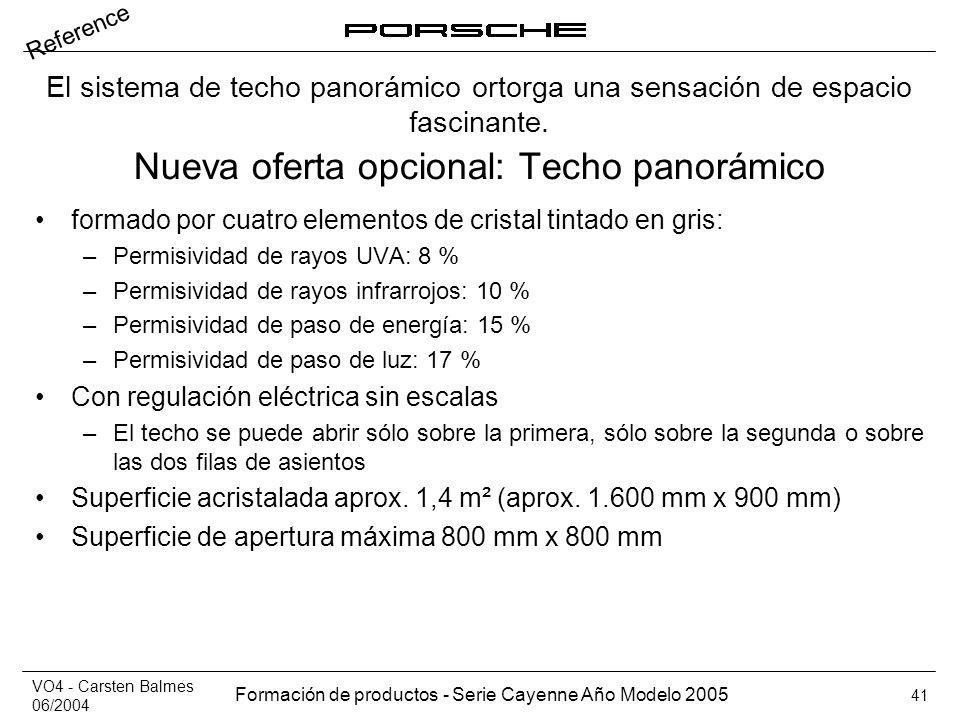 Nueva oferta opcional: Techo panorámico