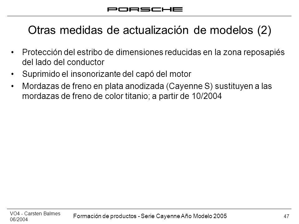 Otras medidas de actualización de modelos (2)