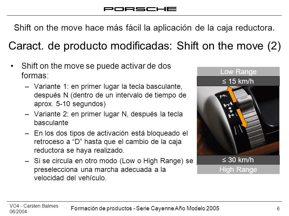 Caract. de producto modificadas: Shift on the move (2)
