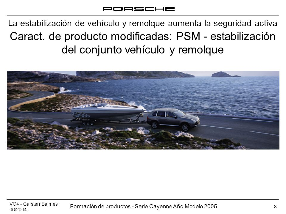La estabilización de vehículo y remolque aumenta la seguridad activa