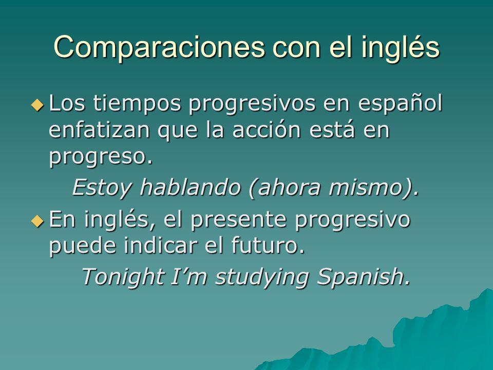 Comparaciones con el inglés