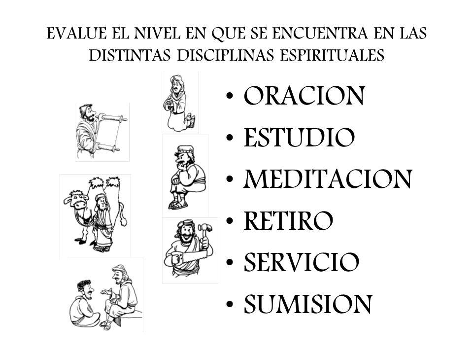 ORACION ESTUDIO MEDITACION RETIRO SERVICIO SUMISION