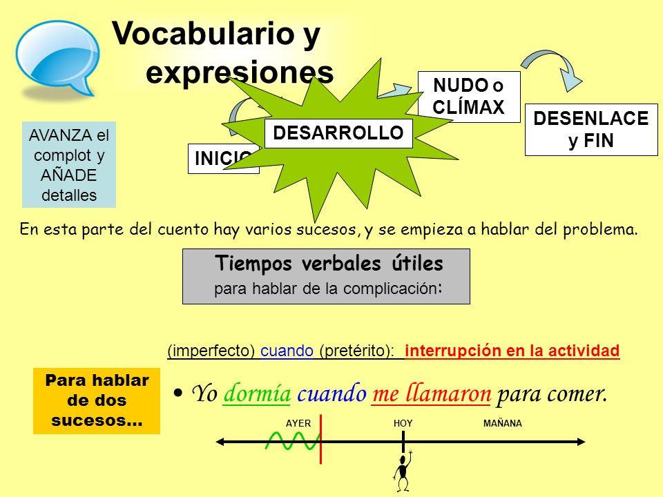 Vocabulario y expresiones
