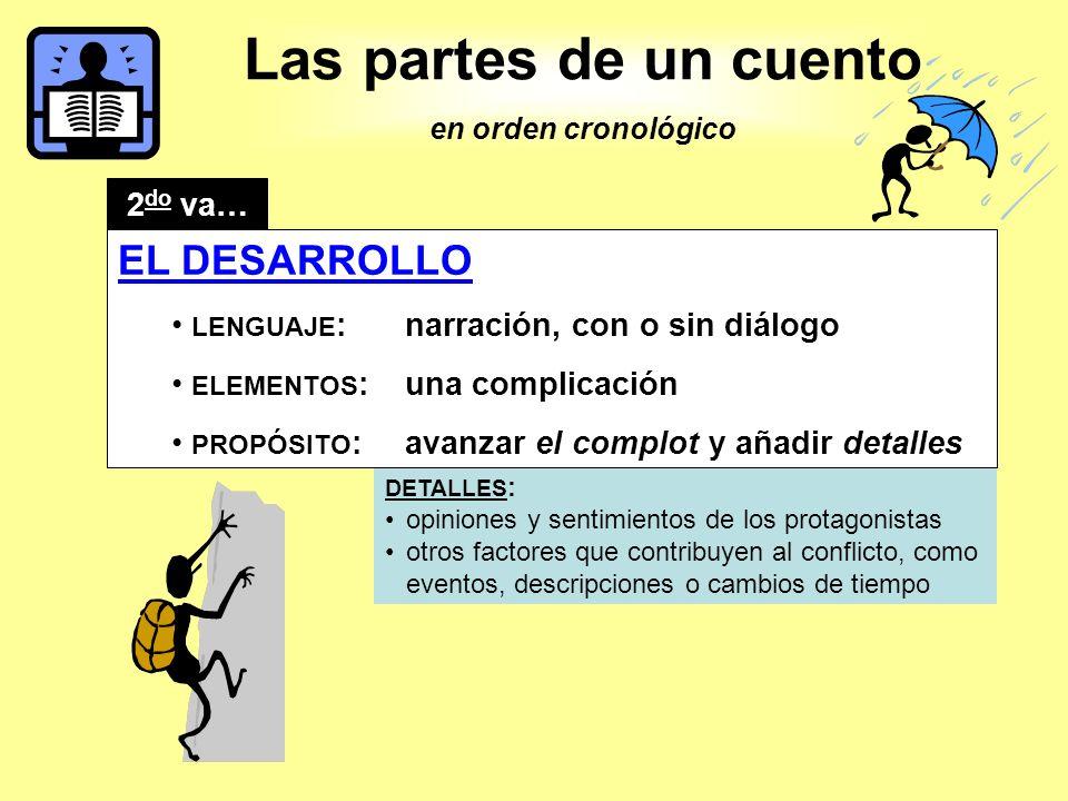 Las partes de un cuento EL DESARROLLO 2do va…