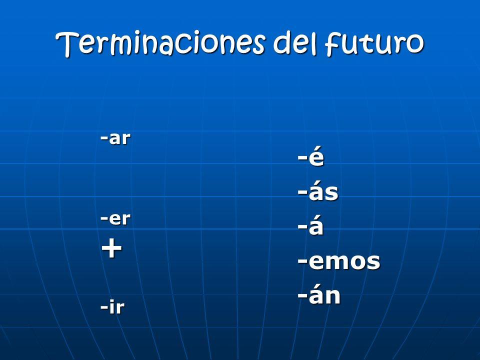 Terminaciones del futuro