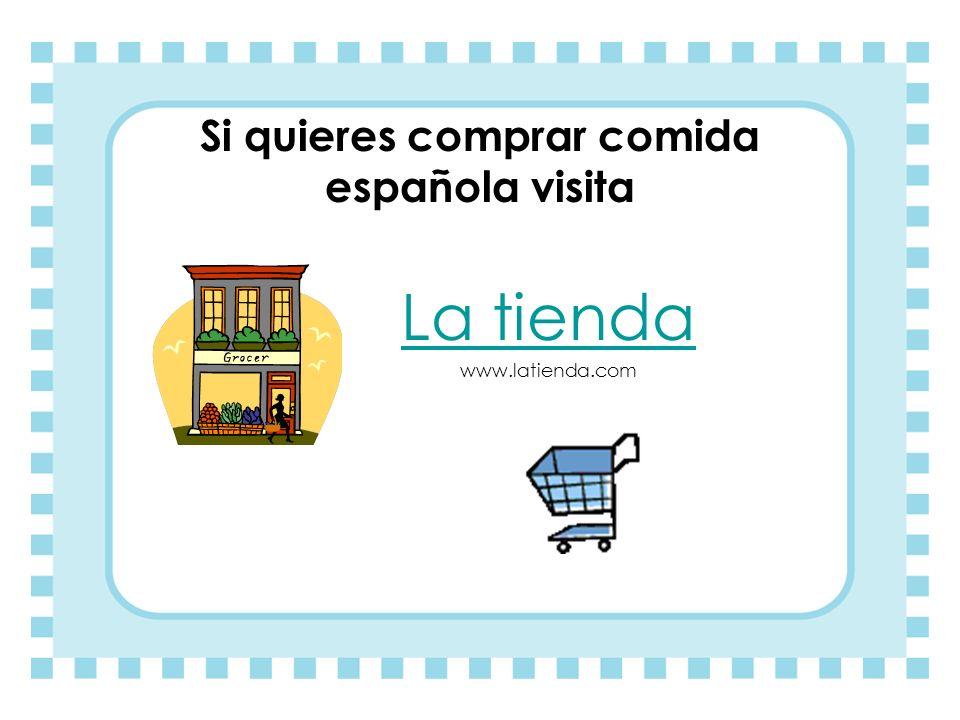 Si quieres comprar comida española visita
