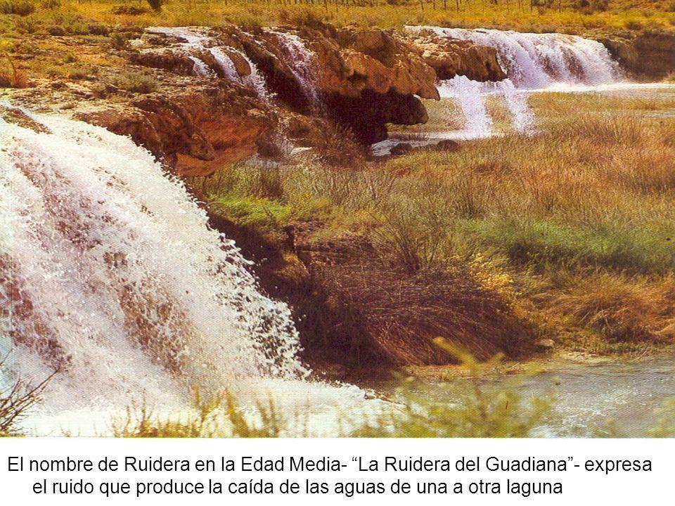 El nombre de Ruidera en la Edad Media- La Ruidera del Guadiana - expresa el ruido que produce la caída de las aguas de una a otra laguna