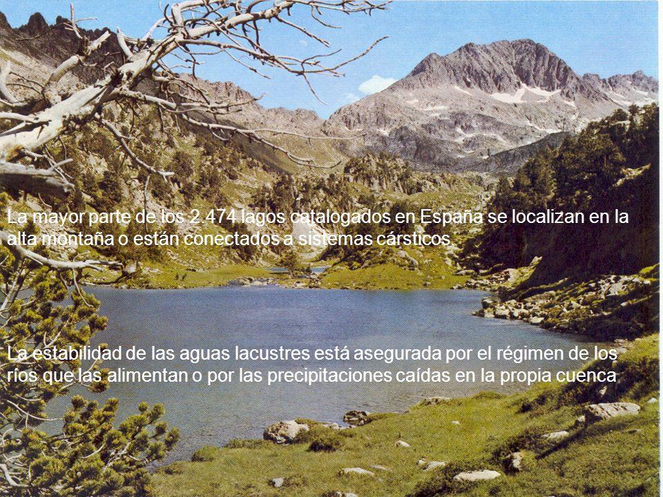 La mayor parte de los 2.474 lagos catalogados en España se localizan en la alta montaña o están conectados a sistemas cársticos.