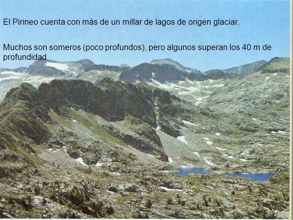 El Pirineo cuenta con más de un millar de lagos de origen glaciar.