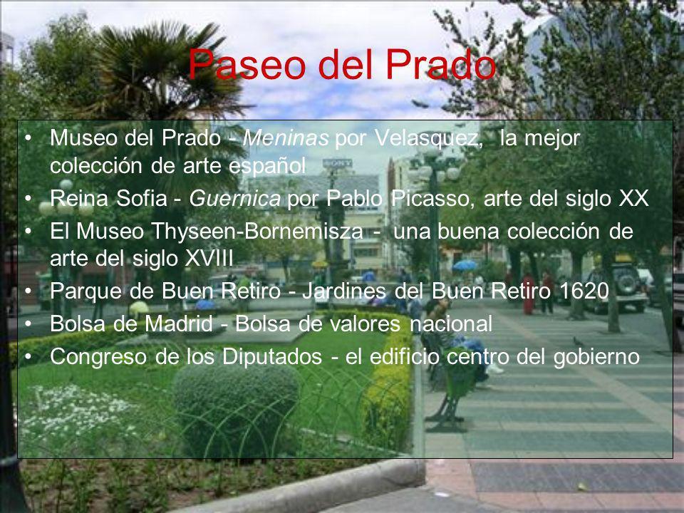 Paseo del Prado Museo del Prado - Meninas por Velasquez, la mejor colección de arte español.