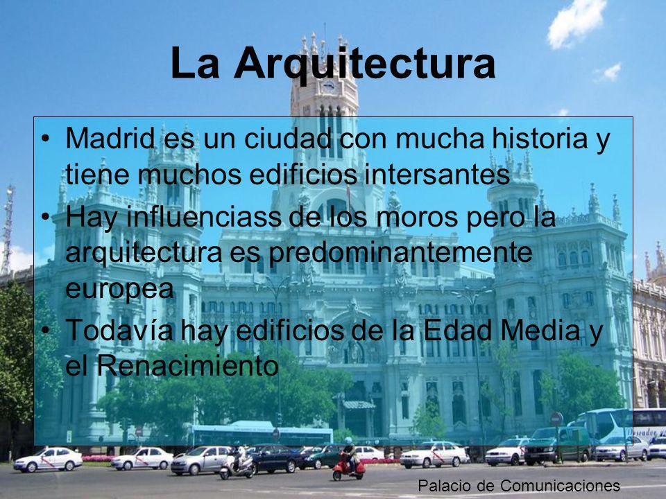 La ArquitecturaMadrid es un ciudad con mucha historia y tiene muchos edificios intersantes.