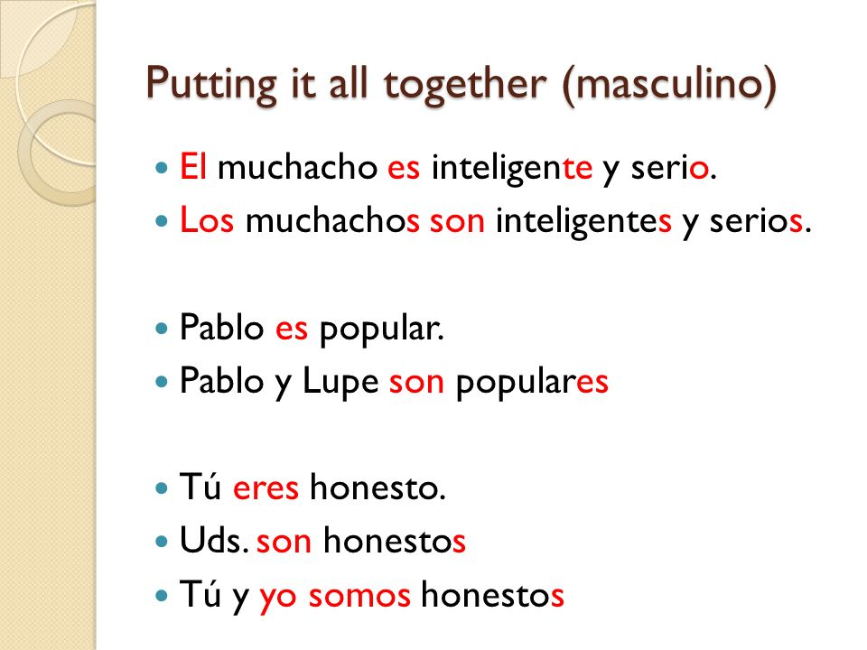 Putting it all together (masculino)