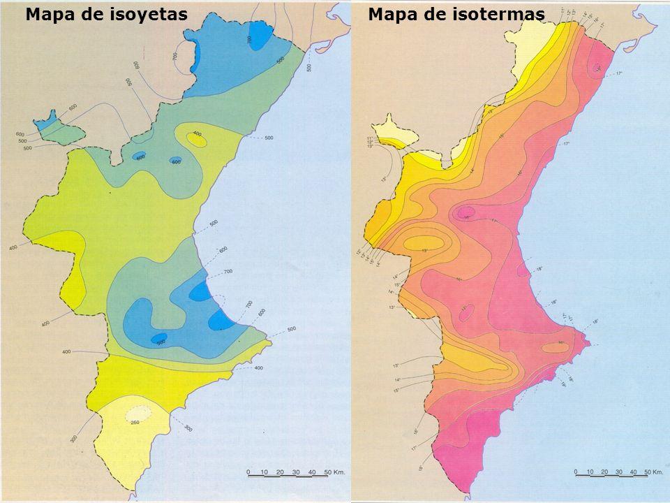 Mapa de isoyetas Mapa de isotermas Mapa de isotermas