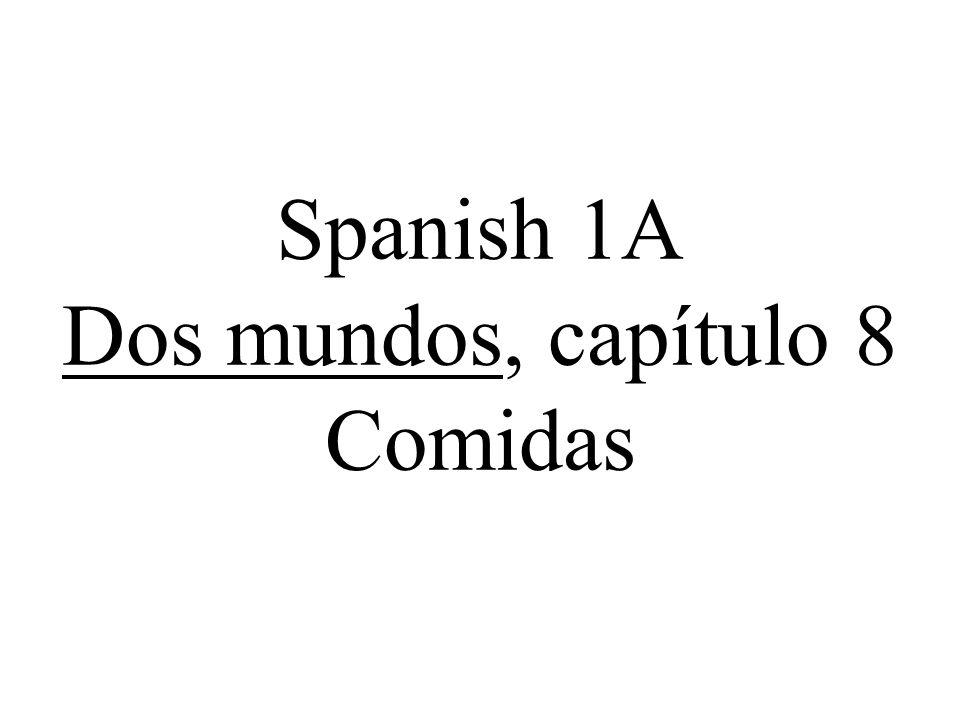 Spanish 1A Dos mundos, capítulo 8 Comidas