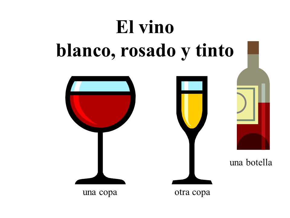 El vino blanco, rosado y tinto