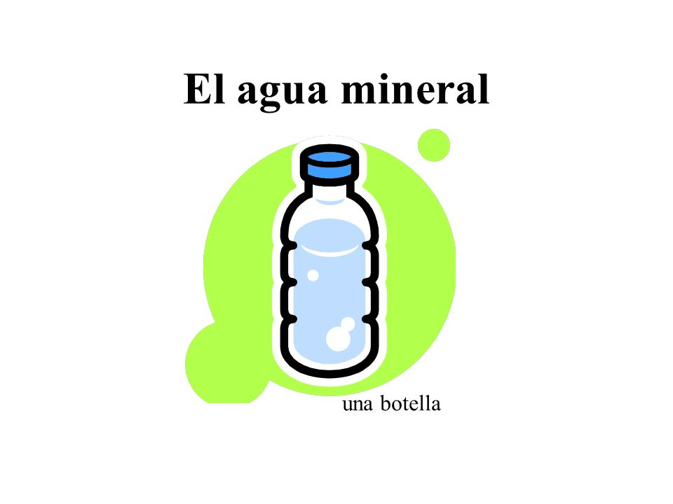 El agua mineral una botella