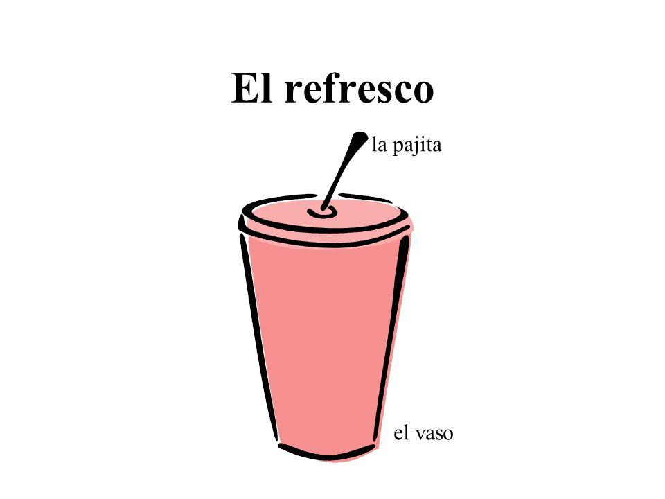 El refresco la pajita el vaso