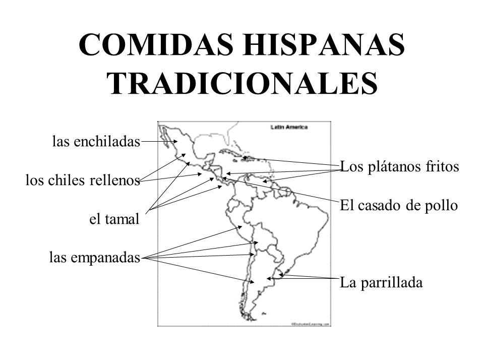 COMIDAS HISPANAS TRADICIONALES