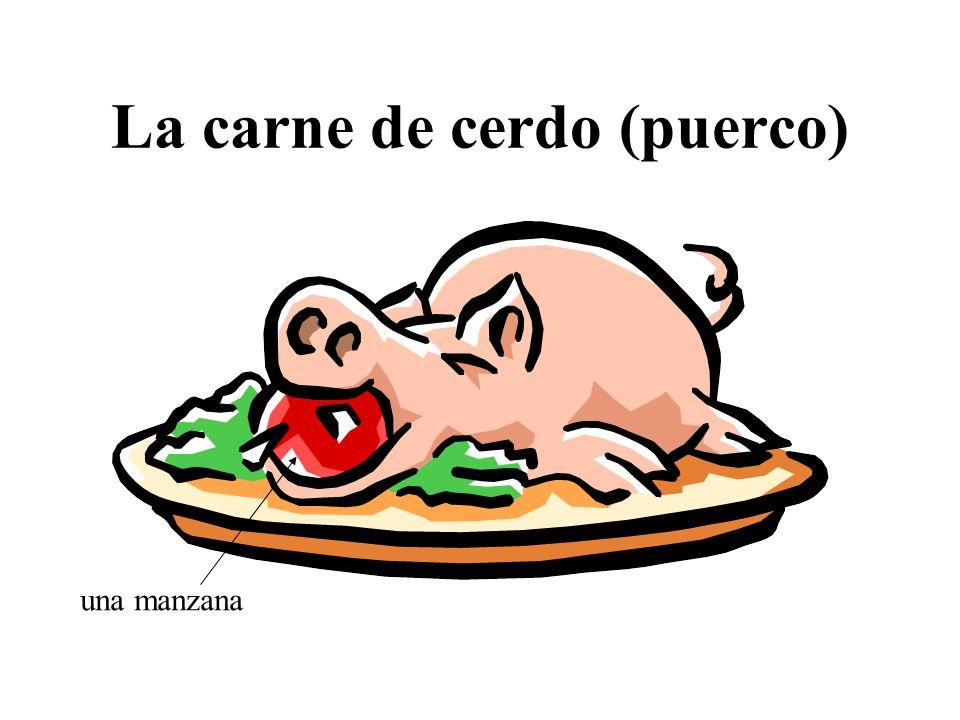 La carne de cerdo (puerco)
