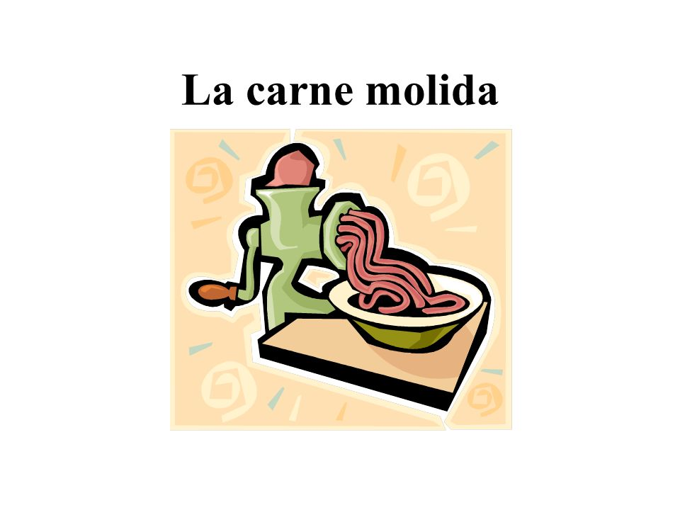 La carne molida