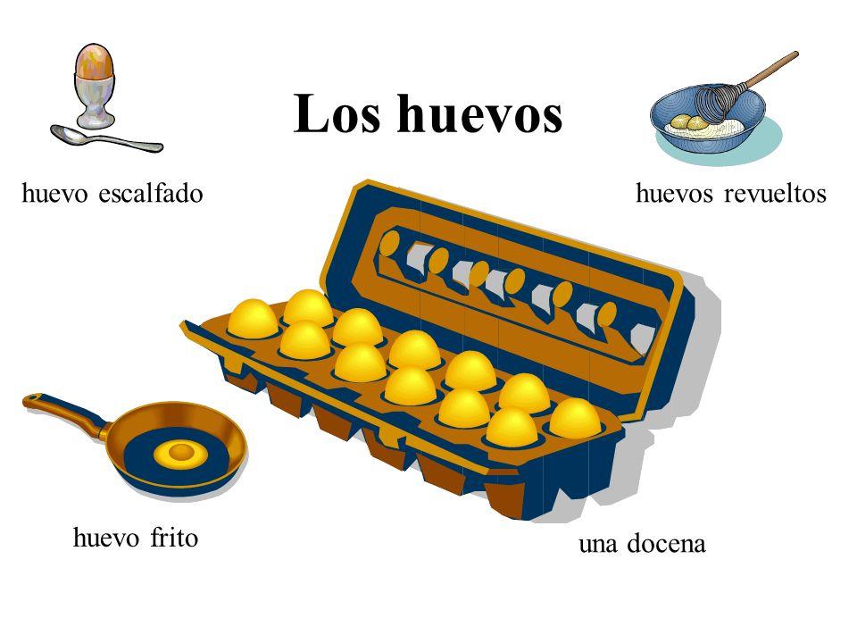 Los huevos huevo escalfado huevos revueltos huevo frito una docena