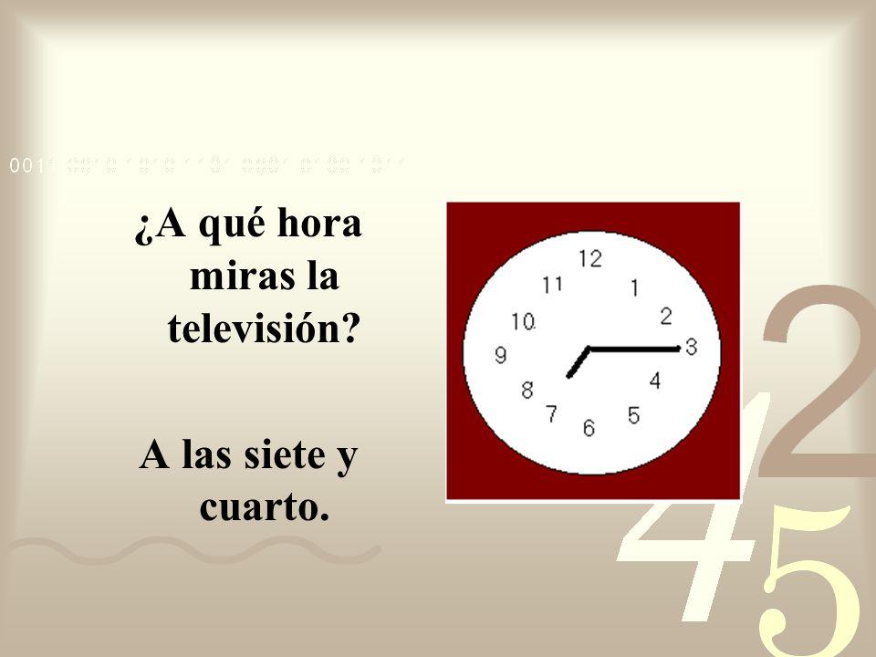 ¿A qué hora miras la televisión