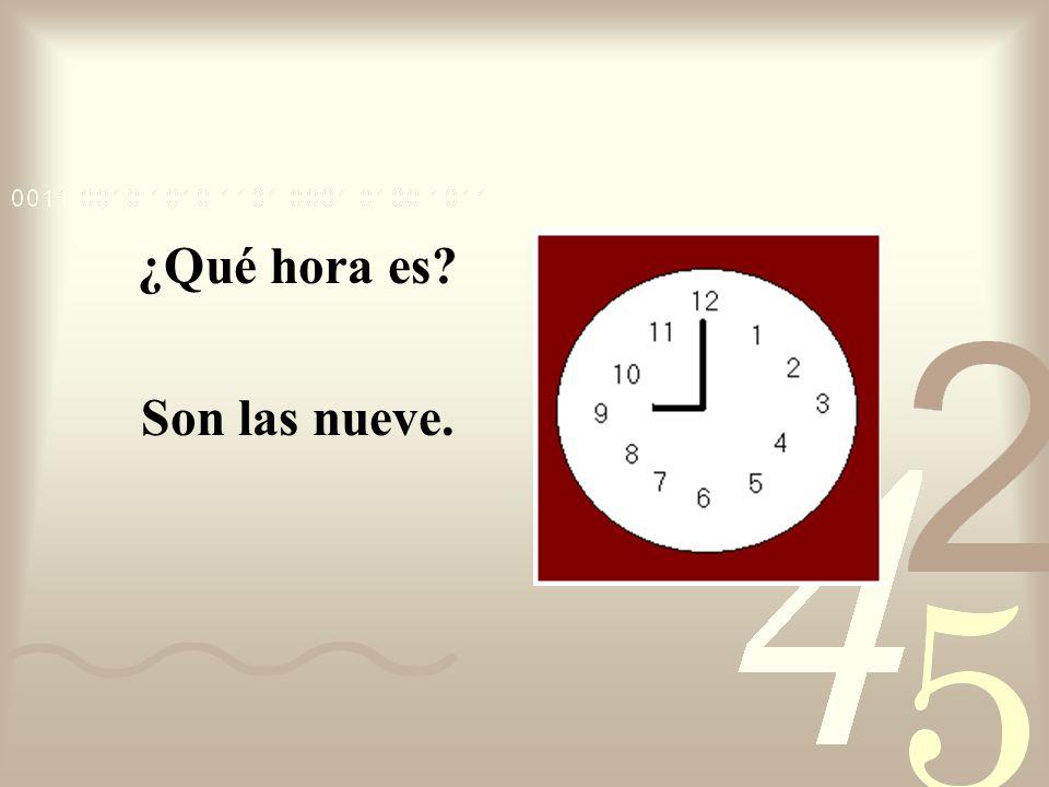 ¿Qué hora es Son las nueve.