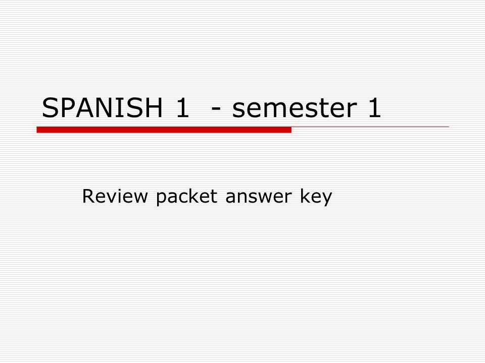 Review packet answer key