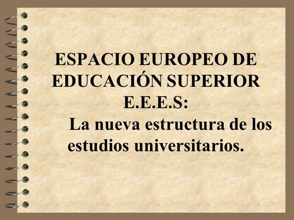 ESPACIO EUROPEO DE EDUCACIÓN SUPERIOR E. E. E. S: