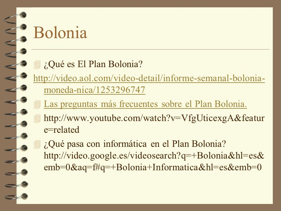 Bolonia ¿Qué es El Plan Bolonia