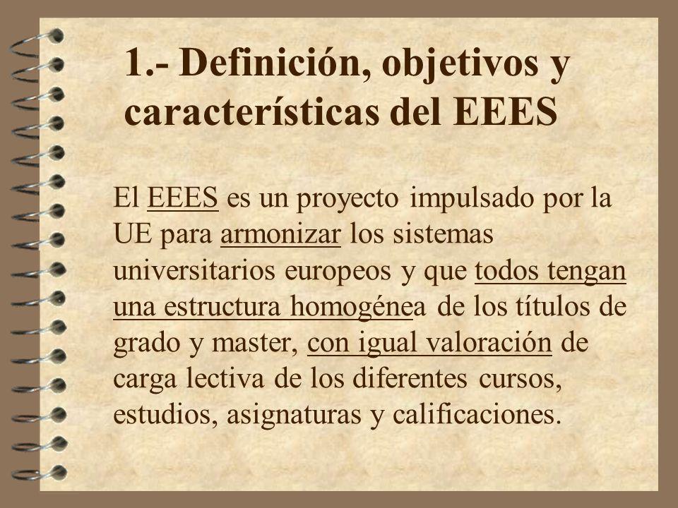 1.- Definición, objetivos y características del EEES