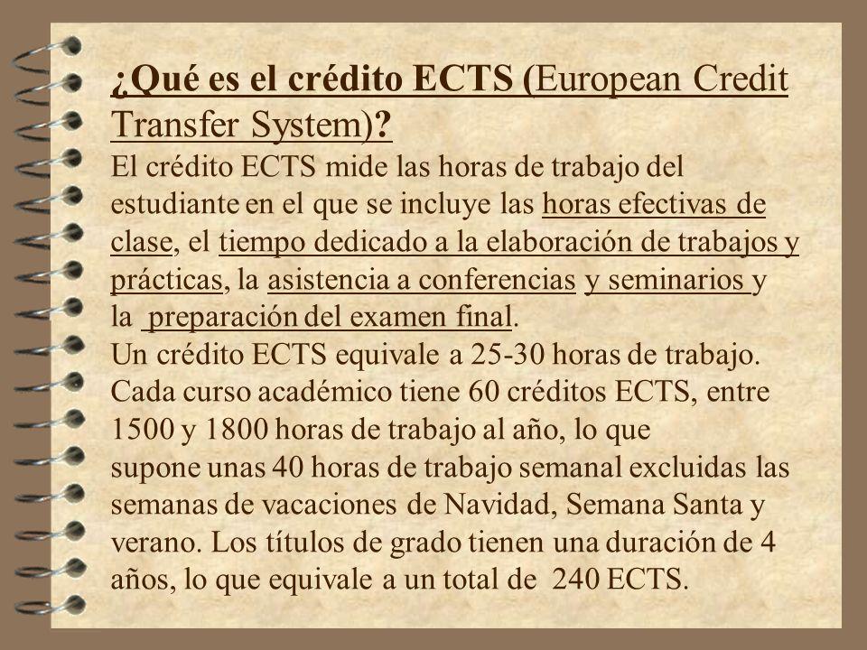 ¿Qué es el crédito ECTS (European Credit Transfer System)