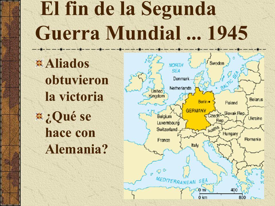 El fin de la Segunda Guerra Mundial ... 1945