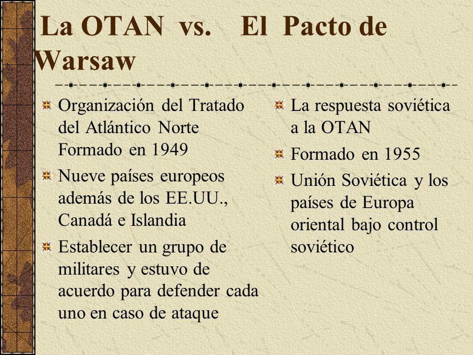 La OTAN vs. El Pacto de Warsaw